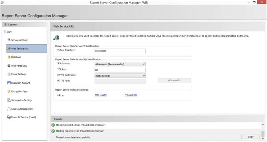 9 6 - نصب و راه اندازی Power BI Report Server