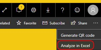 Analyze In Excel - تاریخ شمسی در Power BI