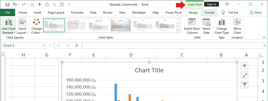 Chart In Excel 4 - رسم نمودار در اکسل
