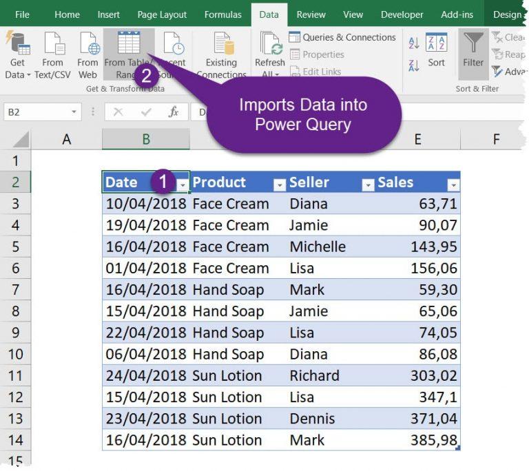 Data Model 2. From Table Range 768x684 - چیستی و مزایای مدلسازی دادهها در اکسل