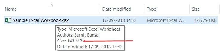 Excel Optimize 1 - 8 راه برای کاهش حجم فایل های اکسل