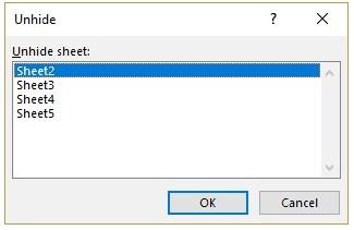 Hidden Excel Sheet 3 - مخفی کردن دائمی شیت ها در اکسل