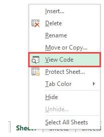 Hidden Excel Sheet 4 - مخفی کردن دائمی شیت ها در اکسل