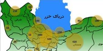 نمودار حبابی اکسل روی نقشه ایران