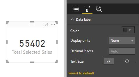 Remove Number Formatting from Card - تعریف و استفاده از متغیرها در DAX
