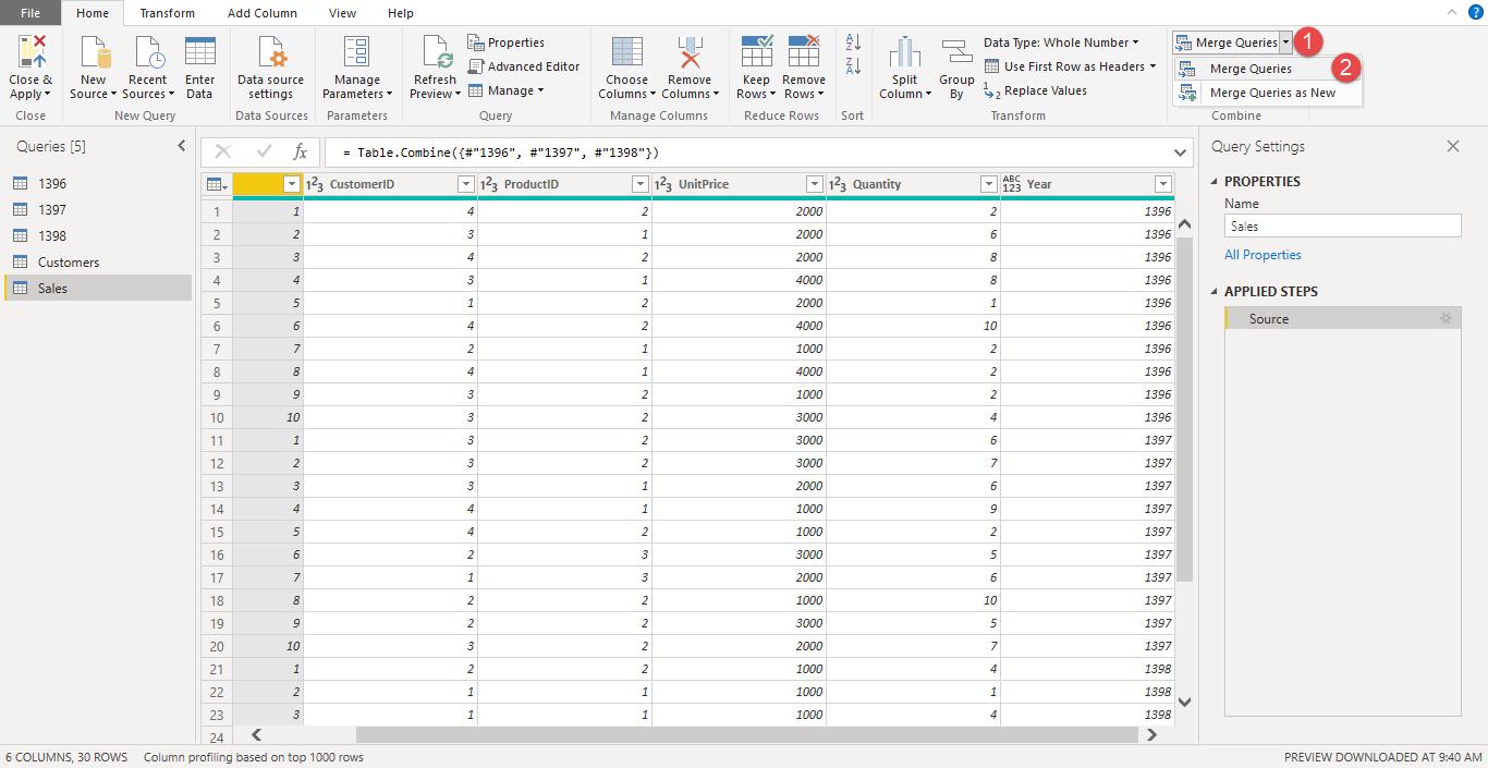 Screenshot 1027 - آموزش Power BI صفر تا سکو : قسمت پنجم ( ترکیب داده ها در Power Query)