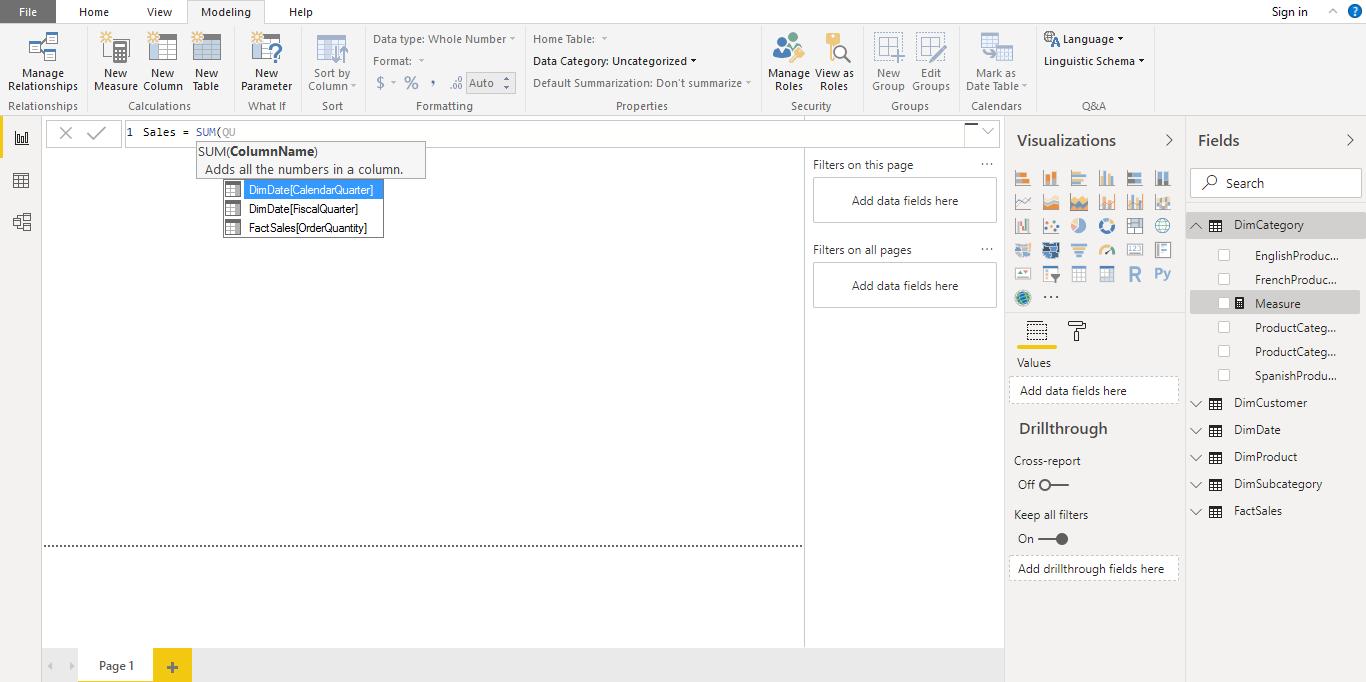 Screenshot 1128 - آموزش Power BI صفر تا سکو : قسمت هفتم ( نوشتن Measure )