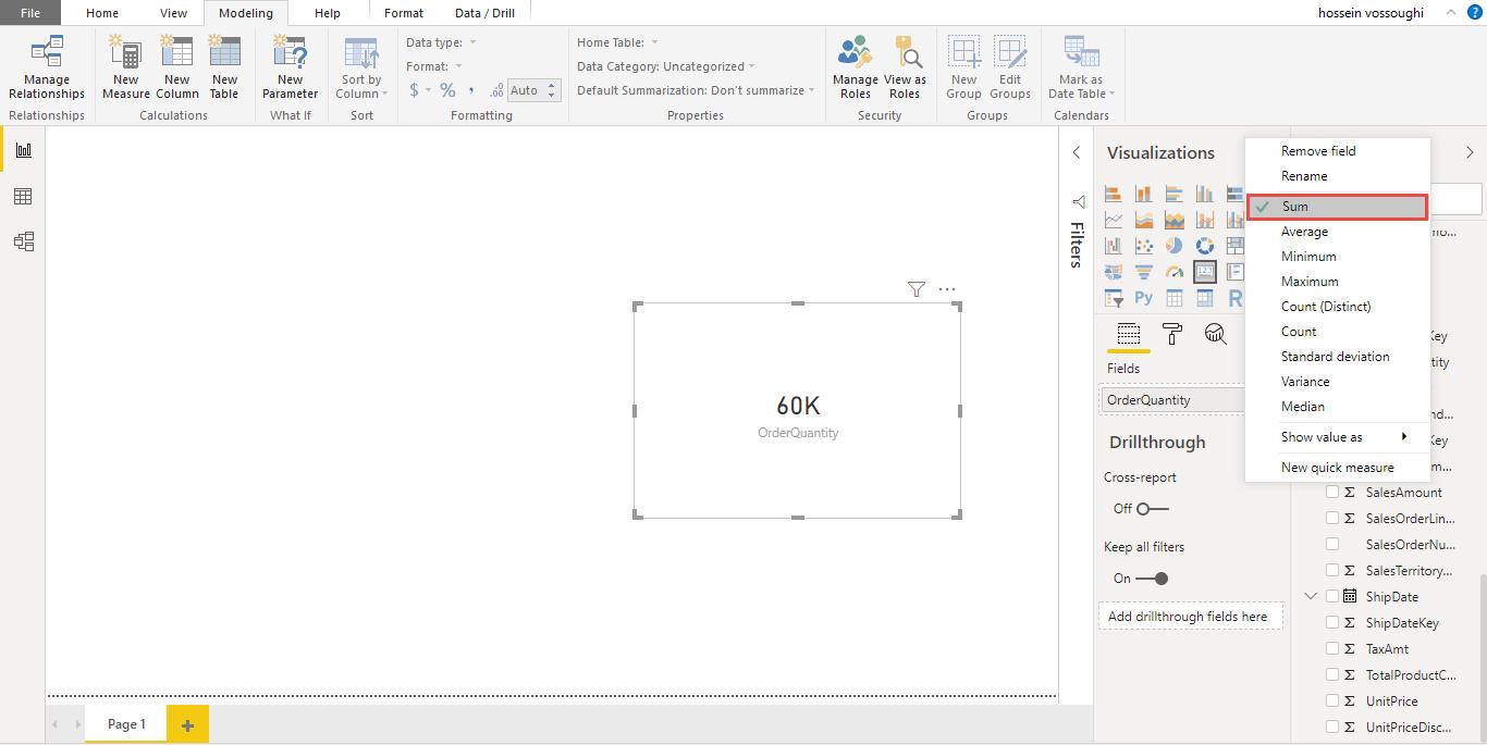 Screenshot 1142 - آموزش Power BI صفر تا سکو : قسمت هفتم ( نوشتن Measure )