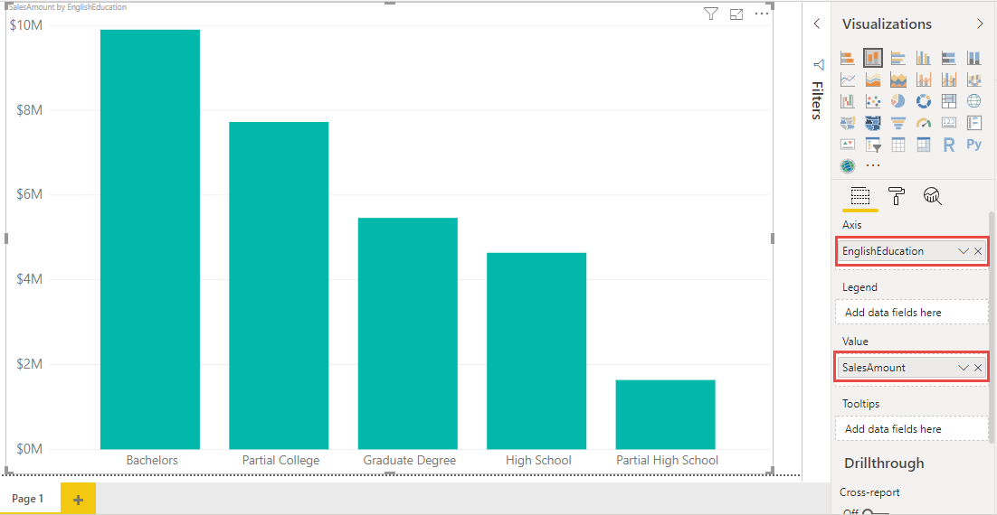 Screenshot 822 - نمایش جمع در Stacked Column Chart