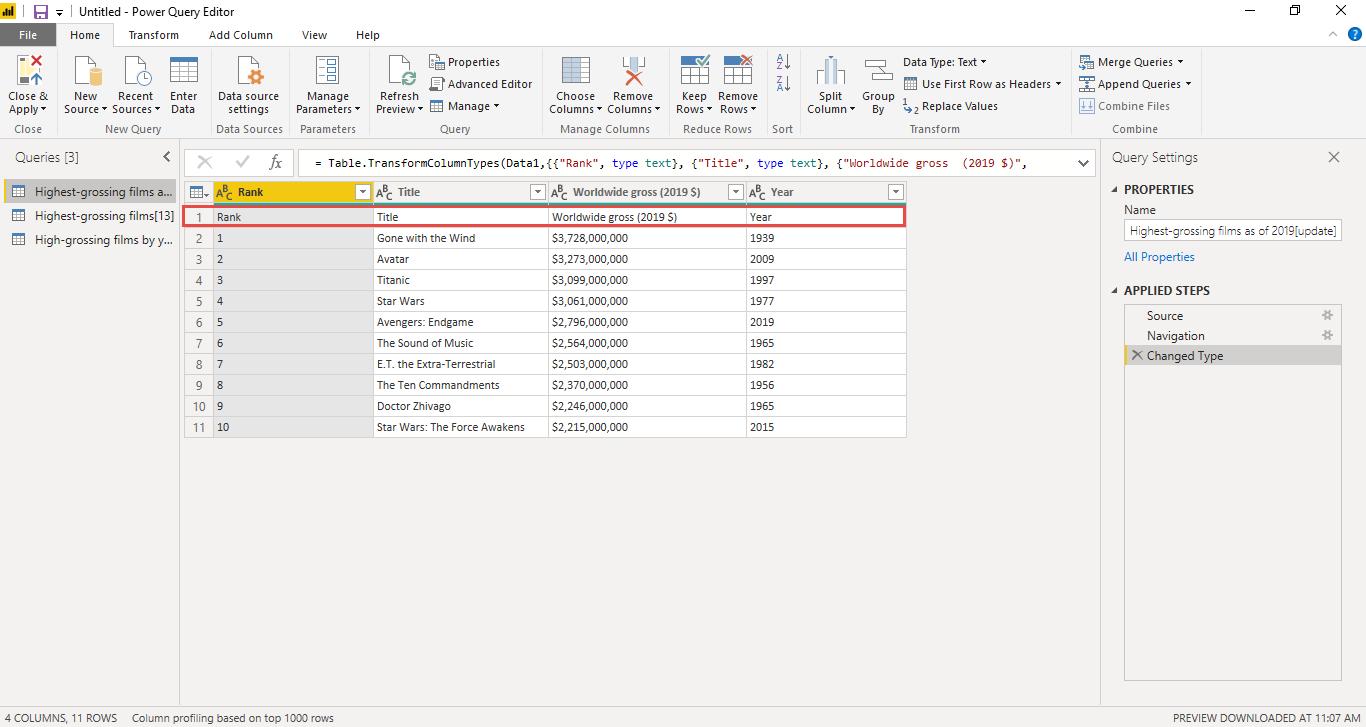 Screenshot 871 - آموزش Power BI صفر تا سکو : قسمت سوم ( پاکسازی داده در Power Query )