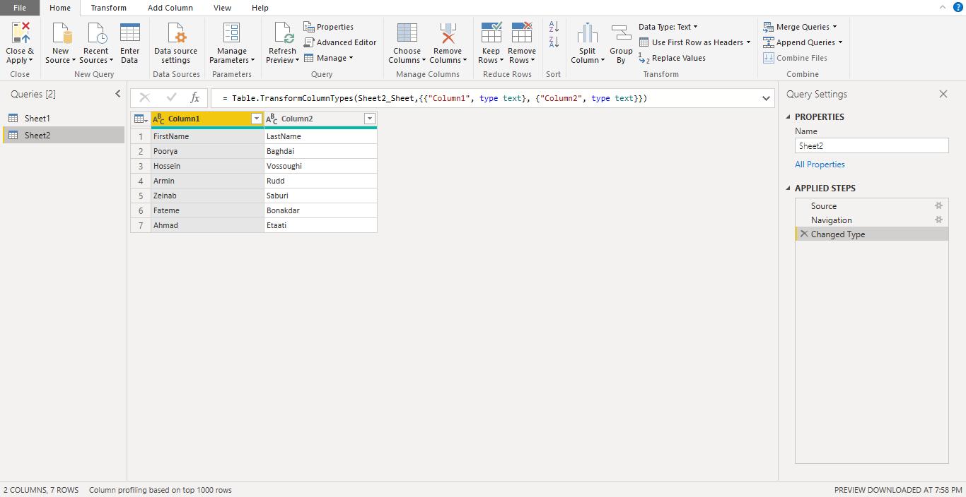 Screenshot 928 - آموزش Power BI صفر تا سکو : قسمت چهارم ( آماده سازی داده در Power Query )