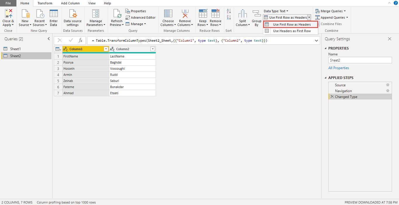 Screenshot 929 1 - آموزش Power BI صفر تا سکو : قسمت چهارم ( آماده سازی داده در Power Query )