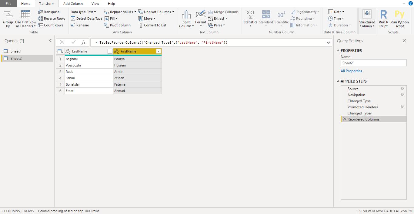 Screenshot 932 1 - آموزش Power BI صفر تا سکو : قسمت چهارم ( آماده سازی داده در Power Query )