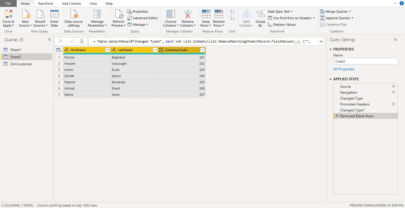 Screenshot 950 - آموزش Power BI صفر تا سکو : قسمت چهارم ( آماده سازی داده در Power Query )