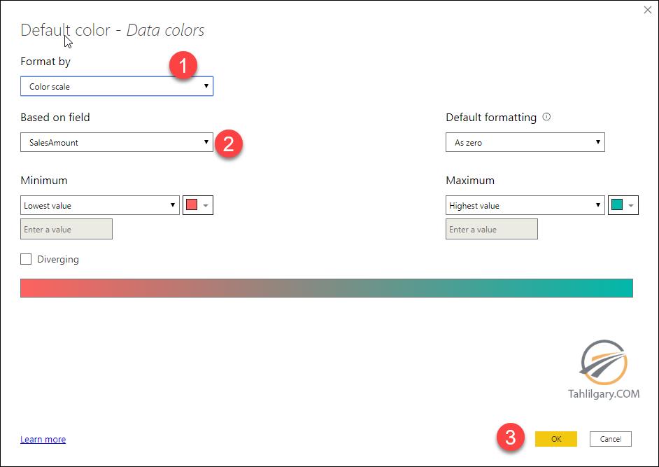 conditional color 03 - رنگ بندی شرطی با زبان DAX