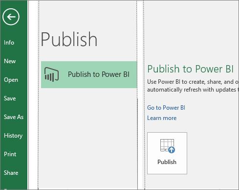 ارسال به powerBI در اکسل