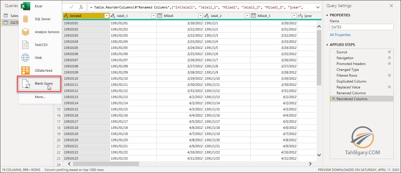 filter power query 5 - فیلتر جدول با جدول دیگر در Power Query