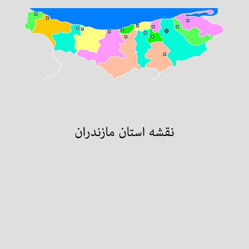 mz map min - نقشه استان مازندران برای Power BI