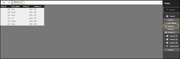 new measure tab - مقدمهای بر فرمولنویسی DAX