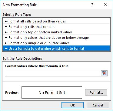 new rules - مغایرت گیری در اکسل