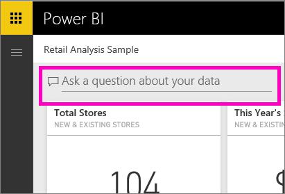 powerbi qna - قابلیت Q&A در نرمافزار Power BI برای کاربر نهایی