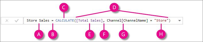 qsdax 4 context - تابع CALCULATE