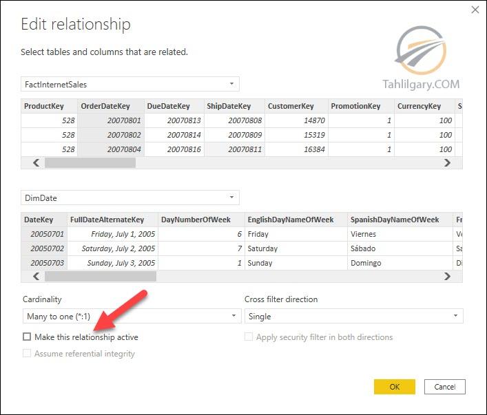 relationships power bi 07 - روابط غیر فعال در Power BI