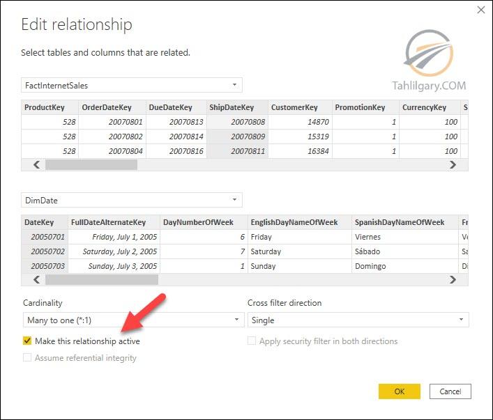 relationships power bi 08 - روابط غیر فعال در Power BI
