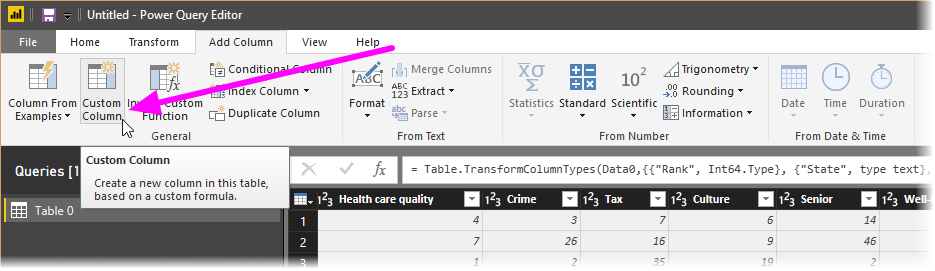 shapecombine customcolumn 1 - شکل دادن داده‌ ها در Power BI