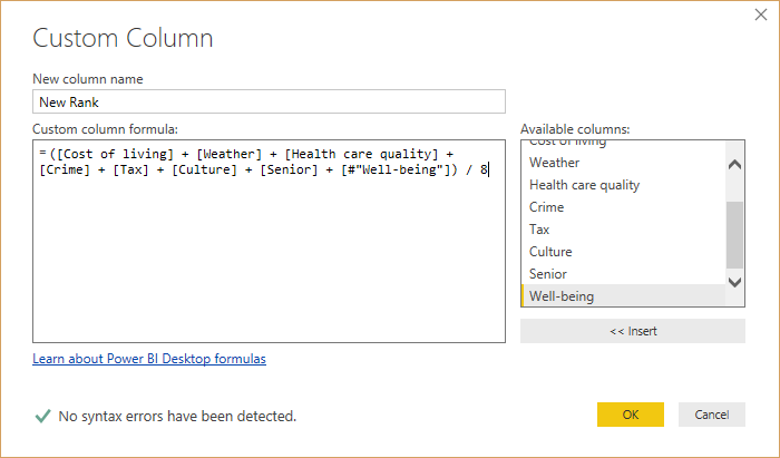 shapecombine customcolumndialog - شکل دادن داده‌ ها در Power BI