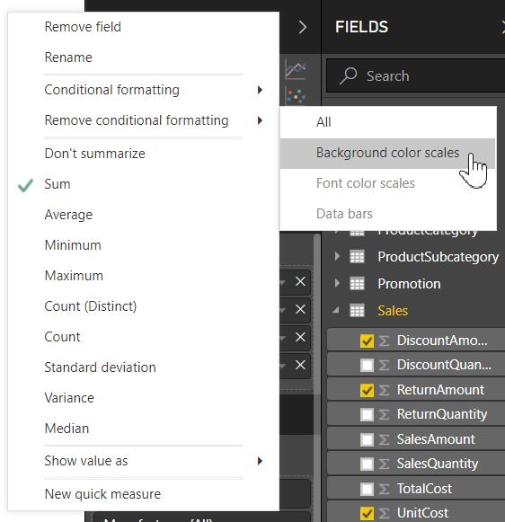 table formatting 1 remove - فرمتدهی شرطی در Power BI