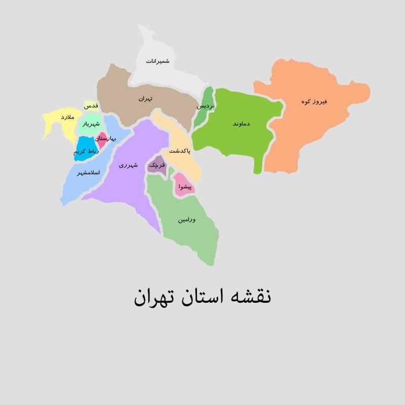 tehran mp min - نقشه استان تهران برای Power BI